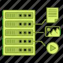 data, equipment, file, format, hosting, infrastructure, network