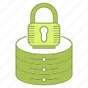 data, hosting, infrastructure, lock, network, security, server icon