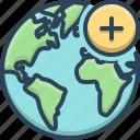add, earth, global, globe, planet, world