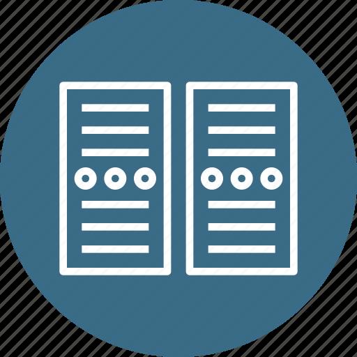 center, cpu, data, network, pc, rack, server icon