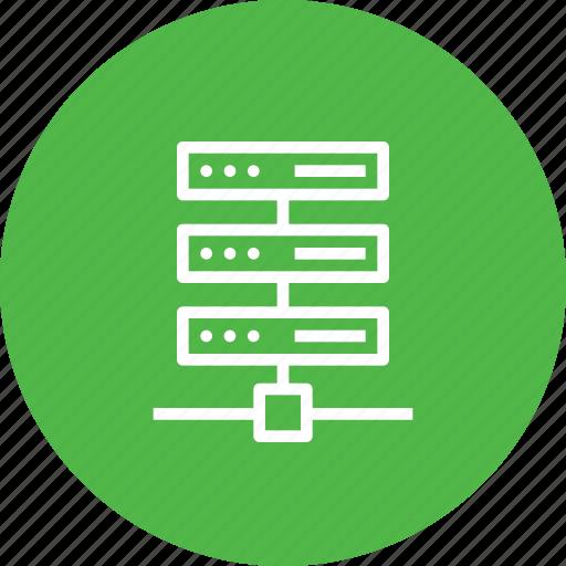 center, data, hosting, rack, series, server, web icon