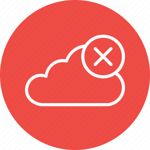 cloud, data, from, online, remove, server, storage icon