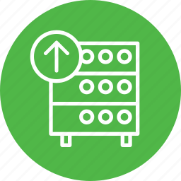 databse, hosting, rack, server icon