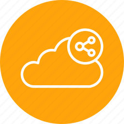 cloud, data, file, server, sharing, storage, sync icon