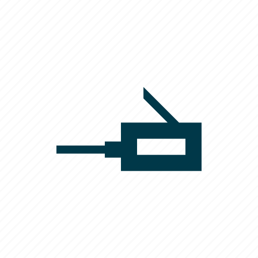 cable, internet, network, port, web, wire, wired icon