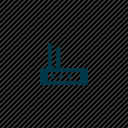 antenna, internet, modem, network, router, wifi, wireless icon