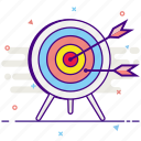 arrow, strategy, target icon