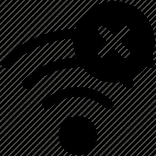 Block, signal, stop, wifi icon icon
