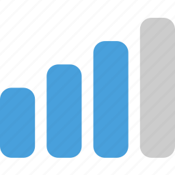 medium, signal, signal strength icon