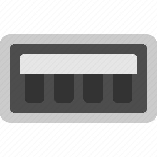 socket, usb, usb input, usb slot icon
