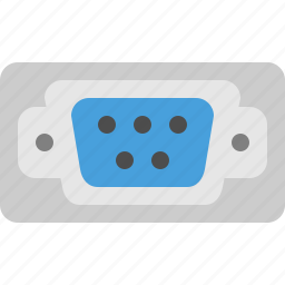 socket, vga, video graphics array, video input icon
