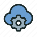 cloud, configuration, connection, network, preferences, settings, technology icon