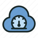 cloud, computing, connection, network, performance, speed, technology icon