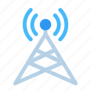 antenna, connection, network, satellite, signal, space, technology icon