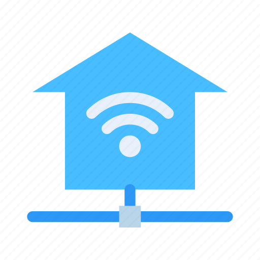 connection, home, internet, network, signal, technology, wireless icon