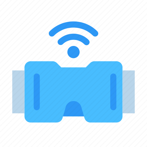 connection, glasses, network, reality, technology, virtual, wireless icon