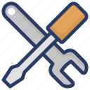 designing tools, maintenance, options, service creativity, technical service, technical tools icon