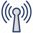 cell tower, medi tower, mobile signal tower, signal antenna, signal tower, wireless tower icon