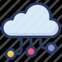 cloud computing, cloud connection, cloud hosting, cloud network, cloud storage icon