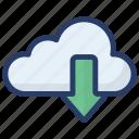 cloud computing, cloud download, cloud hosting, cloud storage, cloud technology icon