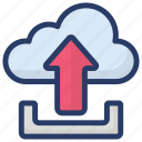 cloud computing, cloud hosting, cloud storage, cloud technology, cloud upload icon