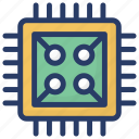 chip, device, electronic, hardware, microchip, technological icon