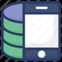 database application, mobile application, mobile database, mobile storage, server software icon
