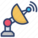 digital communication, satellite, satellite dish, space satellite, space shuttle, space station icon