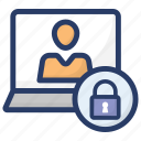 cyber security, login security, online user security, profile password, protected profile icon