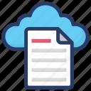 cloud computing, cloud document, cloud file, cloud hosting, cloud storage icon