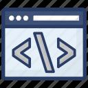 development process, html coding, web coding, web development, web programming icon