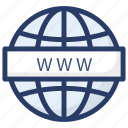 domain, internet explorer, network domain, website, world wide web, www icon