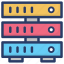data administration, data server, data storage, database, sql icon