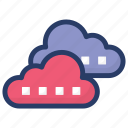 cloud computing, cloud data, cloud hosting, cloud network, cloud server icon