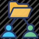 employee folder, folder network, information folder, interconnected folder, team folder, users folder icon