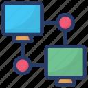 data exchange, data sending, data sharing, data synchronization, data transfer icon