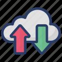 cloud computing, cloud data, cloud download, cloud services, cloud upload icon