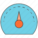 estimate, fast, gauge, scale, speedometer icon