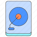 electronic, hard disk, save, storage icon
