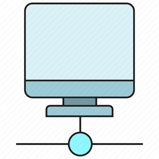 computer, dsktop, network icon