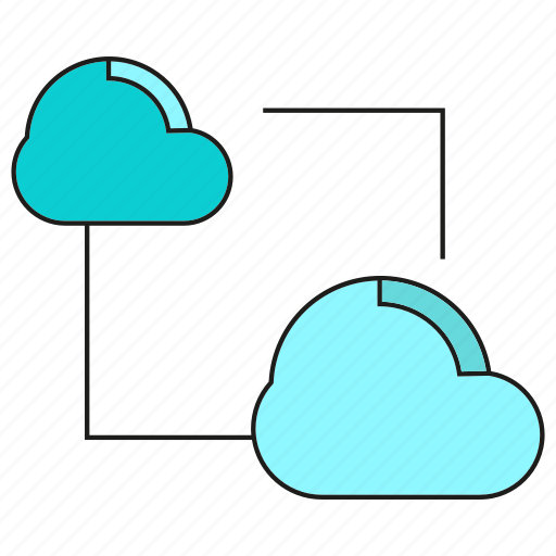 cloud, connection, internet, link, network, sync icon