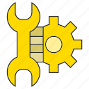 cog, fix, gear, setting, wrench icon
