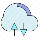 cloud, data transfer, download, network, upload icon