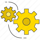 cog, gear, rotate icon