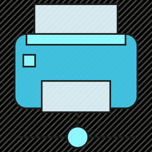 device, electronic, printer icon