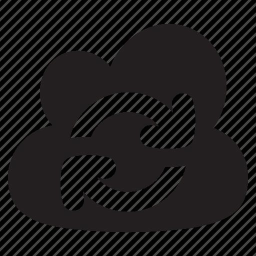 arrows, cloud, computing, network, refesh, storage, sync icon