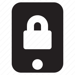 lock, mobile, phone, protection, secure, smartphone icon