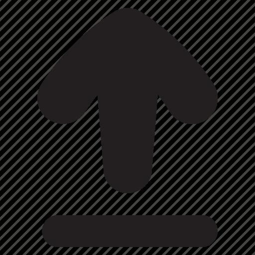 arrow, cloud, direction, up, upload, uploading icon