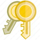 key, lock, secure icon