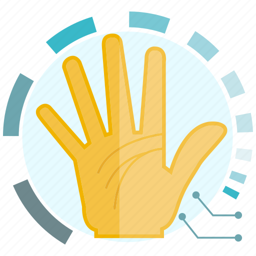 hand, scan, secure icon